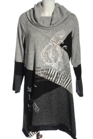 Tredy Sweater Dress light grey-black flecked casual look