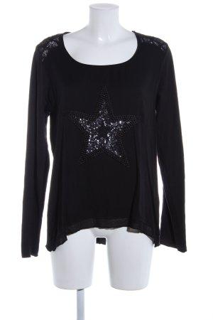 Tredy Slip-over blouse zwart casual uitstraling
