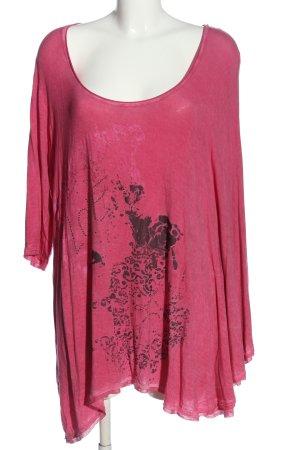Tredy Schlupf-Bluse rot-schwarz abstraktes Muster Casual-Look