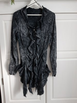 Tredy Lange blouse antraciet-grijs Katoen