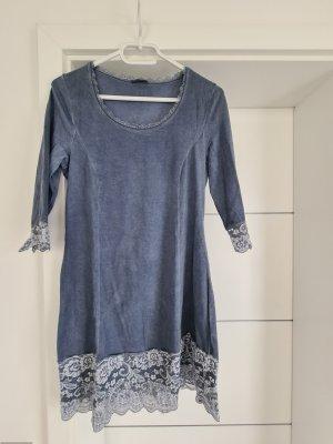 Tredy Camicia lunga grigio ardesia-blu fiordaliso