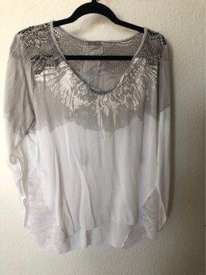 Tredy Shirt Gr. 36 grau weiß