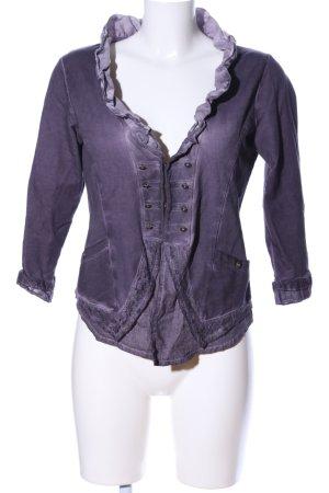Tredy Veste chemise violet style décontracté