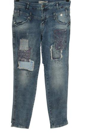Tredy Jeans slim fit blu Stampa a tema stile casual