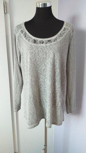 Tredy Camisa tipo túnica gris claro