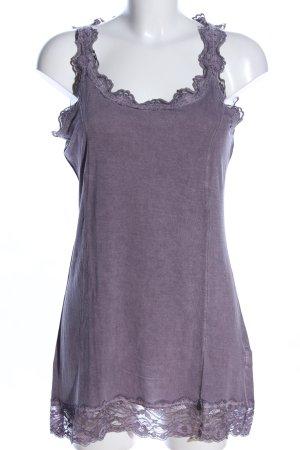 Tredy Top di merletto grigio chiaro stile casual