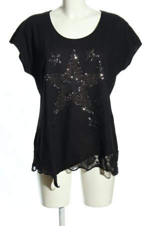 Tredy T-Shirt schwarz Motivdruck Casual-Look