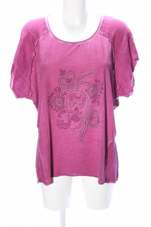 Tredy T-Shirt pink Allover-Druck Casual-Look