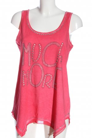 Tredy Tank Top pink printed lettering casual look