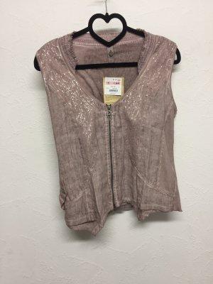 Tredy Veste chemise or rose lin