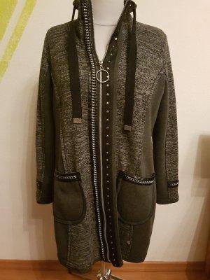 Tredy Wolle Mantel schwarz/grau Gr 46 48