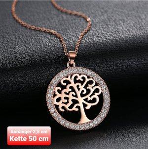 Tree of Life Anhänger mit Kette aus Silber 925
