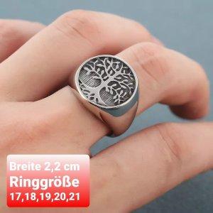 Tree of Life Ring aus Chirurgenstahl