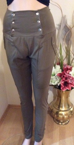 Pantalón boyfriend marrón grisáceo Algodón