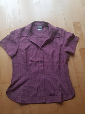 Jack Wolfskin Checked Blouse pale yellow-grey lilac