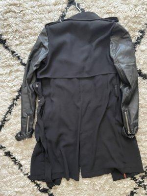 Trench coat, mit  Lederärmeln