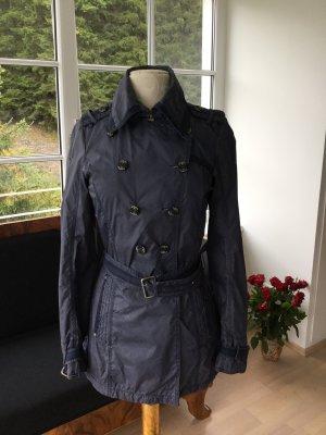 Dreimaster Trench Coat dark blue-steel blue