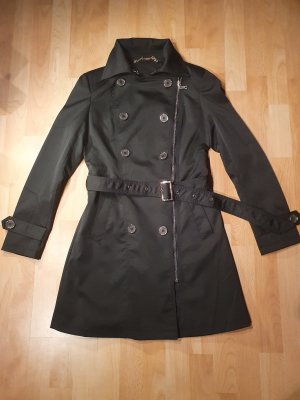 Trench Coat black-gold-colored