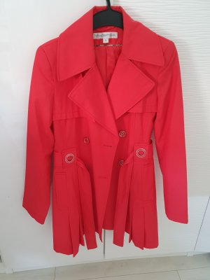 Trenchcoat lichtrood-rood
