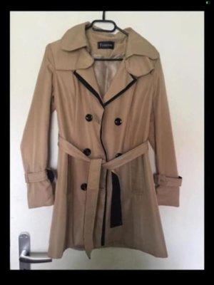 100% Fashion Trenchcoat crème-marron clair