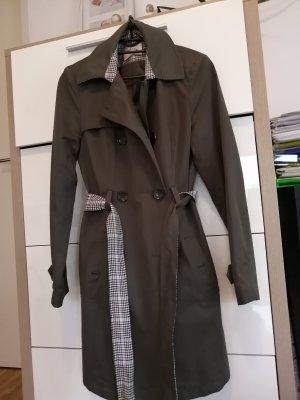 Orsay Trench Coat khaki-green grey cotton