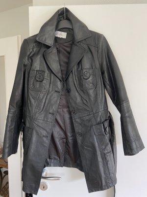 Trenchcoat aus Leder von Heine Gr 42