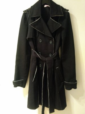 Bluegirl Trench Coat black-silver-colored