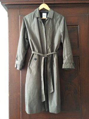 Wood Wood Trench Coat ocher-camel cotton