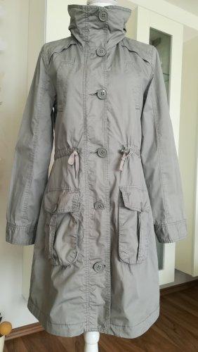 QS by s.Oliver Cappotto con cappuccio grigio-grigio chiaro Cotone