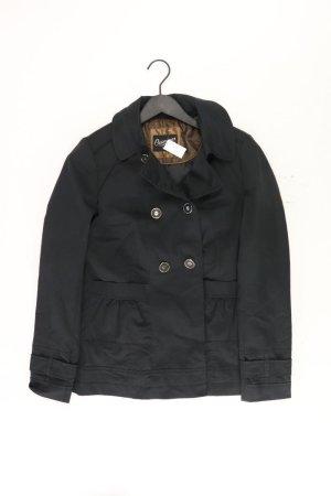 Trenchcoat Größe 38 schwarz aus Baumwolle