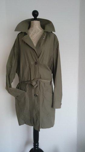 Authentic Trench Coat green grey mixture fibre