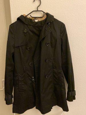 H&M Trenchcoat zwart