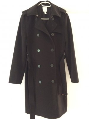H&M Trench Coat black polyester
