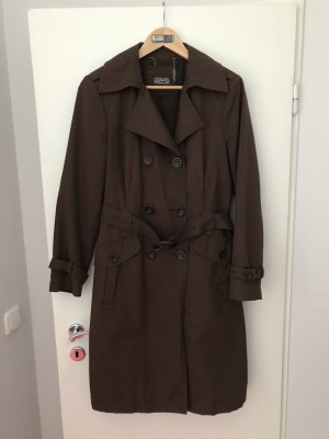 Trench Coat dark brown-brown
