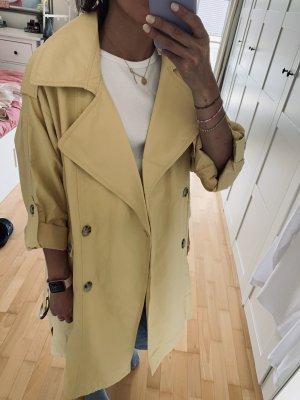 Pull & Bear Trenchcoat jaune clair-crème