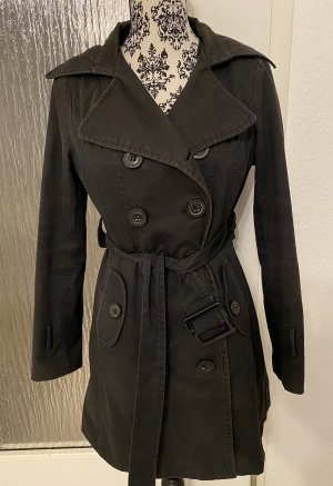Trenchcoat in schwarz