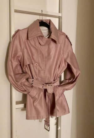Trenchcoat Jacke aus rosa denim