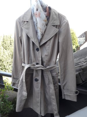 Trenchcoat / Kurzmantel Jacke 40 beige Vera Moda NEU +Gürtel einreihig knielang