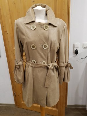 Leather Coat oatmeal