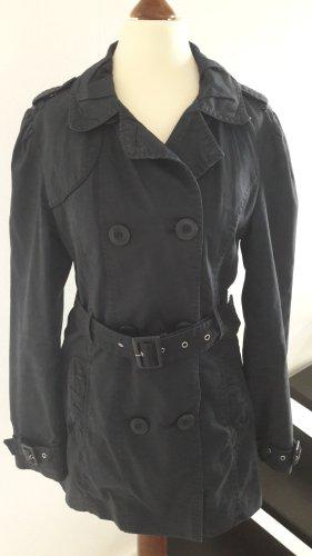 ♡ Trenchcoat Mantel dunkelblau Gr.36 ♡ viele Details ♡