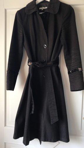 Trenchcoat Mantel Zara Braun Pailletten L