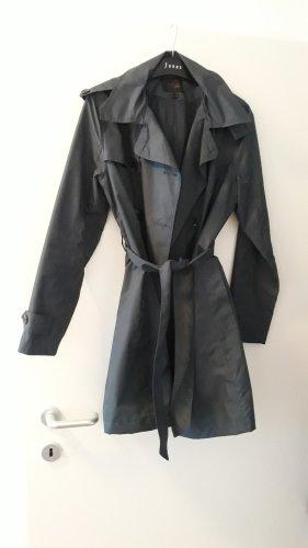 Tchibo / TCM Heavy Raincoat steel blue polyester