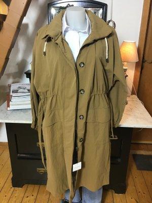 Zara Heavy Raincoat ocher nylon