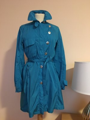 1 NY tee Trench Coat light blue mixture fibre