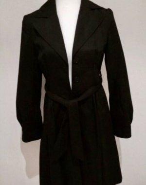 Trenchcoat tailliert schwarz von H&M in Größe 34
