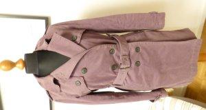 Comptoir des Cotonniers Trench Coat grey lilac cotton