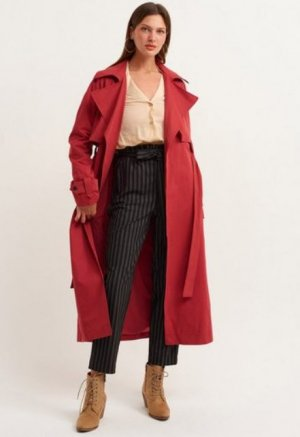 Trench Coat red cotton