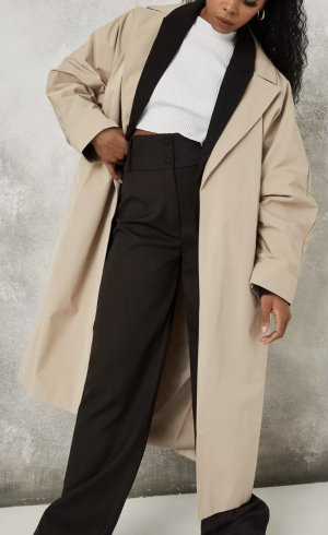 Missguided Long Jacket cream