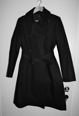 Strenesse Trench Coat black cotton