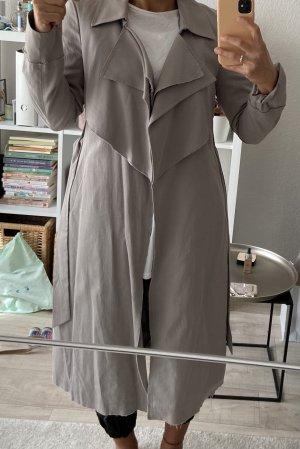 Tigha Trench grigio chiaro Cotone